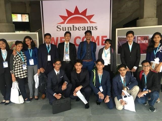 Participants of Sunbeams MUN 2018